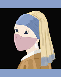 Girl With A Pearl Earring And Mask