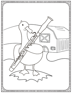 Coloring Pages for The Double Reed Duckling