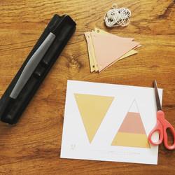 Candy Corn Bunting Craft Kit