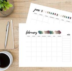 Blank Calendar (Digital Download)
