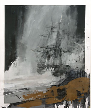 Seascape with Charcoal XL, by Jake Wood-Evans