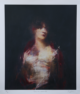 Portrait of a Woman in Red, by Jake Wood-Evans