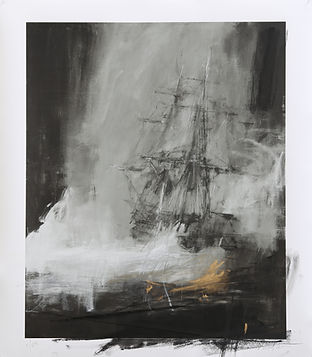 Seascape with Charcoal, by Jake Wood-Evas