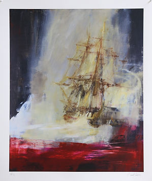 Seascape with Crimson, by Jake Wood-Evans