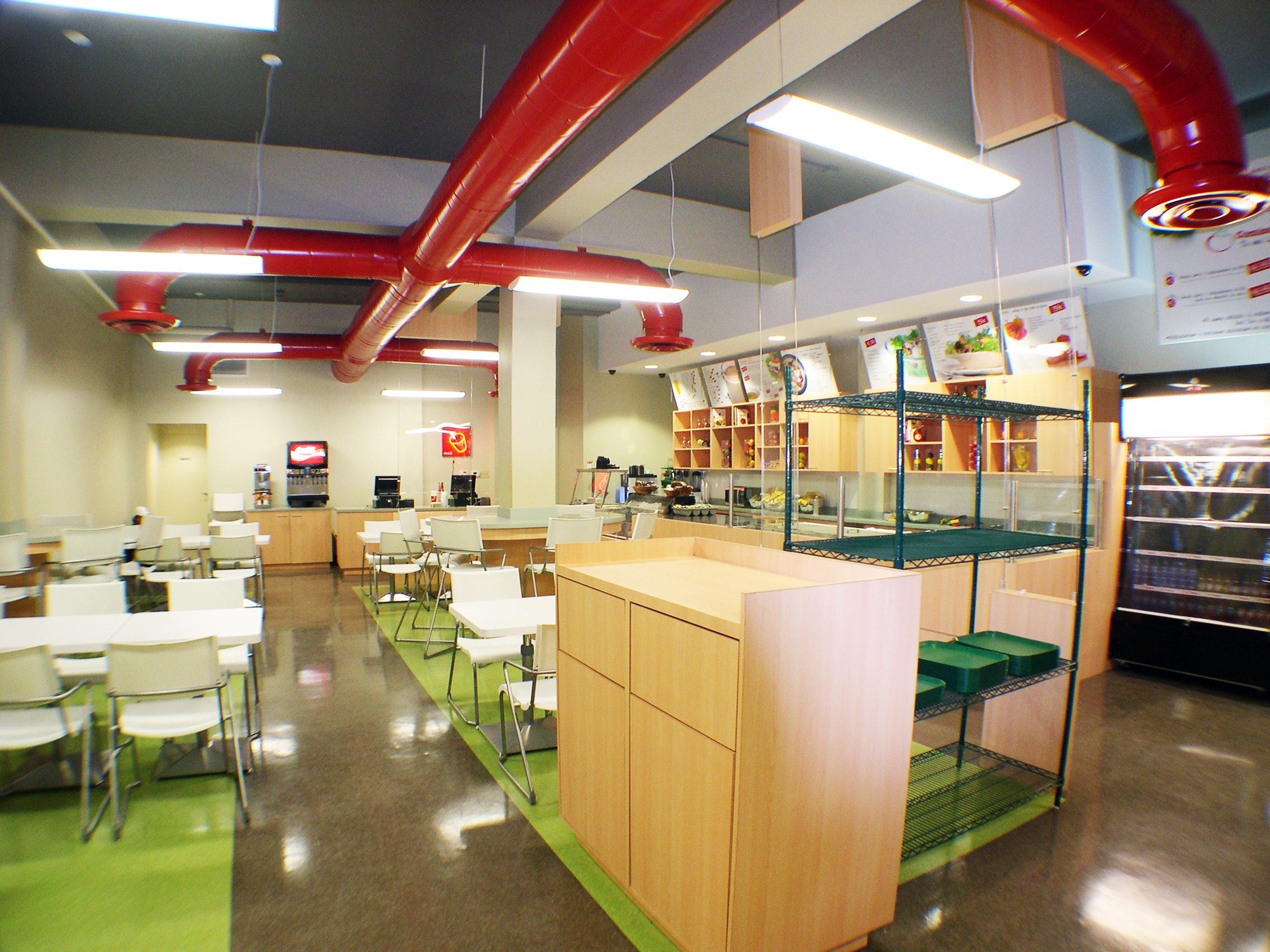 Restaurant finished interior