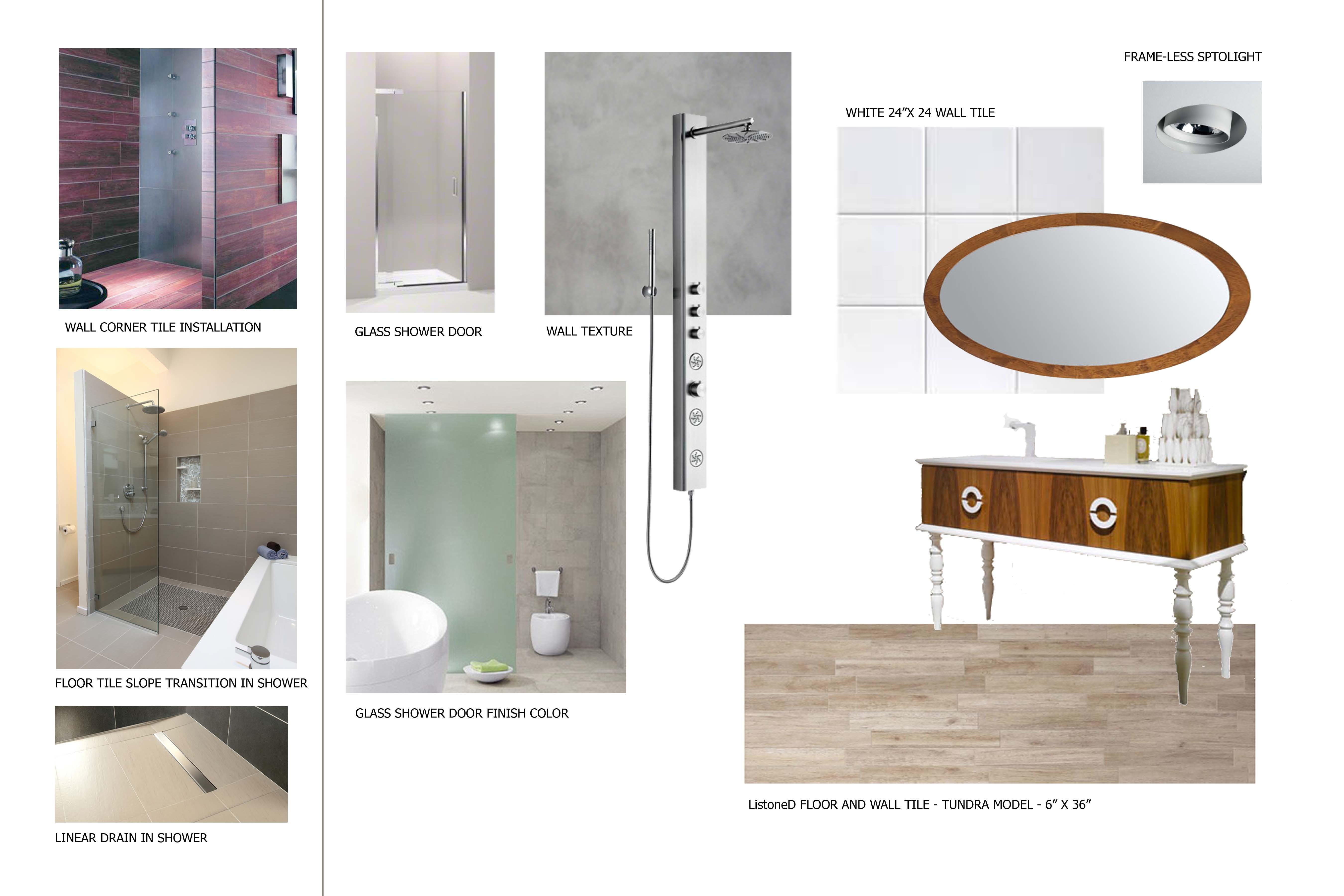 Master Bathroom Concept Board