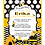 Thumbnail: Designer Bumble Bee Baby Shower Invitations (sold in sets of 10)