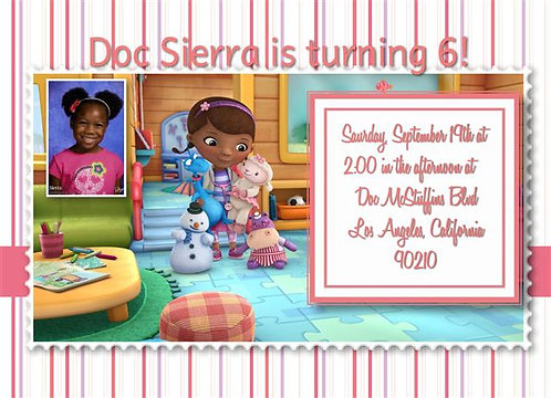 Doc McStuffins Birthday Party Invitation