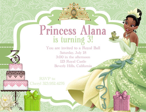 Princess tiana birthday party and event invitation sold princess tiana birthday party event invitations filmwisefo