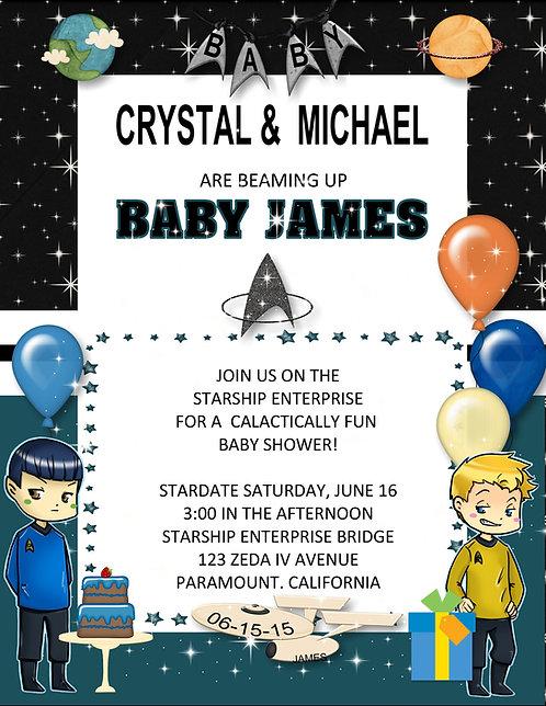 Star Trek  Baby Shower Invitation