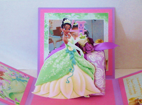 Princess Tiana Cut-Out Custom Exploding Box Event Invitation