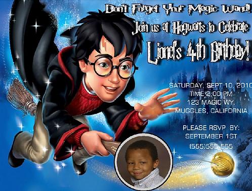 Harry Potter Sketch Birthday Party Invitation