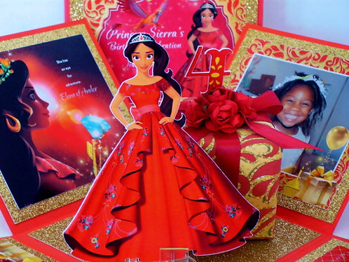 Princess Elena of Avalor Custom Cut-Out Exploding Box Event Invitation