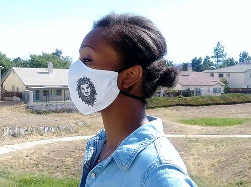 Lion Contoured Face Mask with Filter Pocket