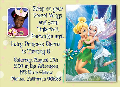 Secret of the Wings (Sisters) Birthday Party Invitation