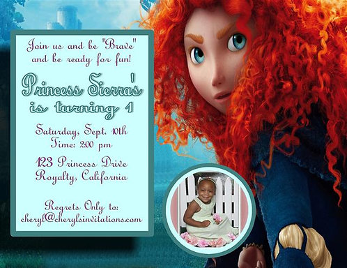 Brave Birthday Party Invitation