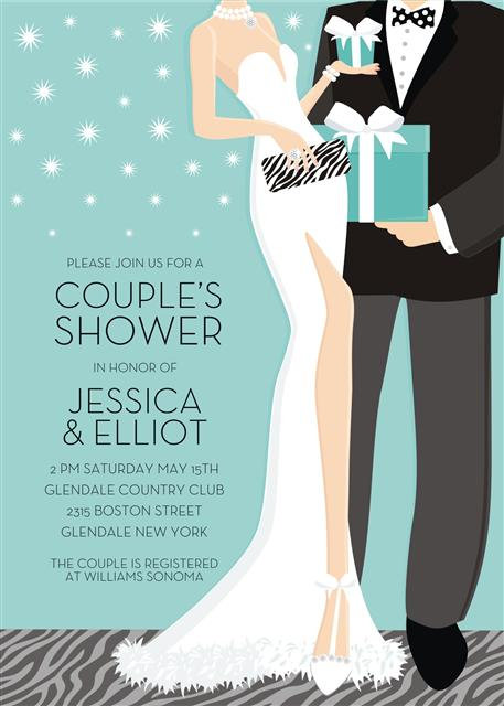 Blue Couples Bridal Shower and  Event Invitation