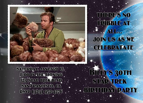 Star Trek Tribbles Birthday Party and  Event Invitation