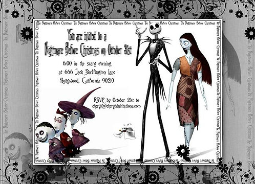 #2 Nightmare Before Christmas Halloween Party and  Event Invitation