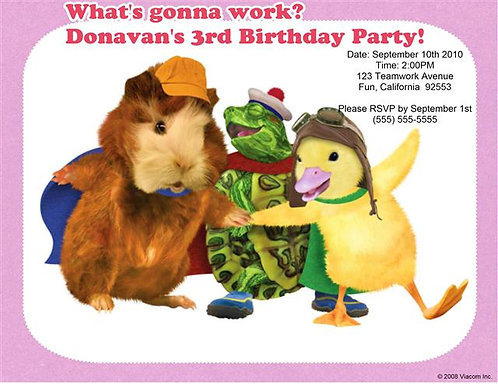 Wonder Pets Birthday Party Invitation