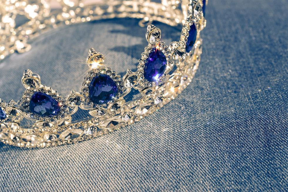 Wonderful silver bridal diadem or crown