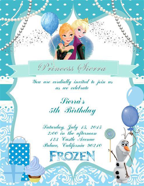 Frozen Birthday Presents Party Invitation