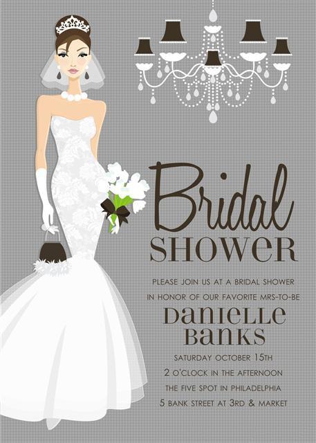 Elegant Bridal Shower and  Event Invitation