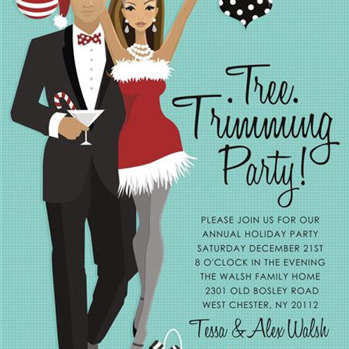 Holiday Parties Event Invitations Unique Invitations by Cheryl – Tree Trimming Party Invitation