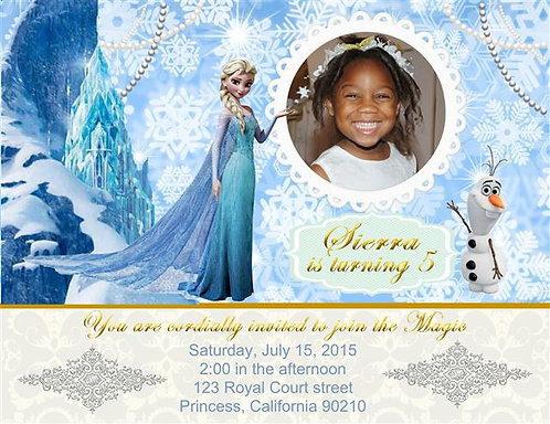 Frozen Elsa Birthday Party Invitation