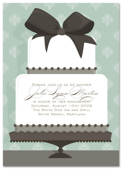 Wedding Cake Bridal Shower and  Event Invitation