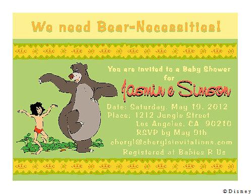 Jungle Book Baby Shower Invitation