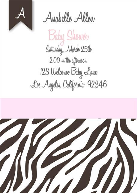 Pink zebra baby shower invitations filmwisefo