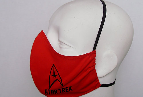 Star Trek Contoured Face Mask with Filter Pocket