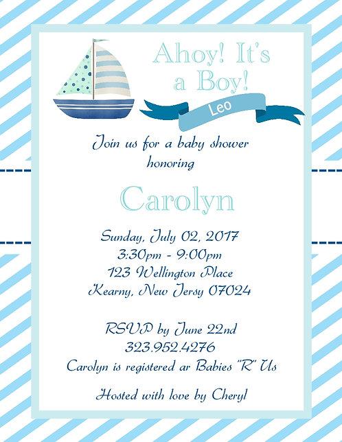 #3 Nautical Baby Shower Invitation