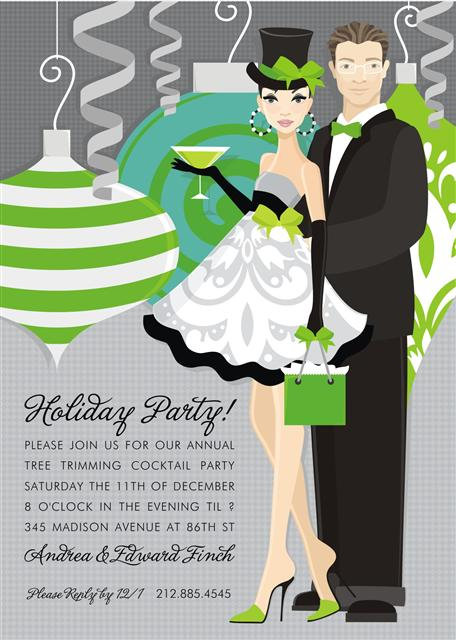 Delightful Holiday Duo Holiday Party and  Event Invitation