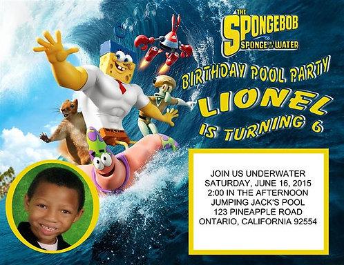 Spongebob Underwater Birthday Party Invitation