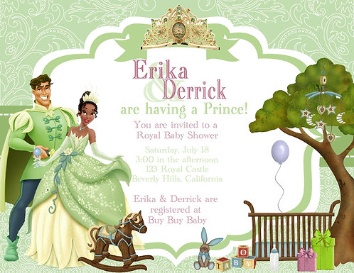 Princess and the Frog Boy Couples Shower Invitations (sold in sets of 10)