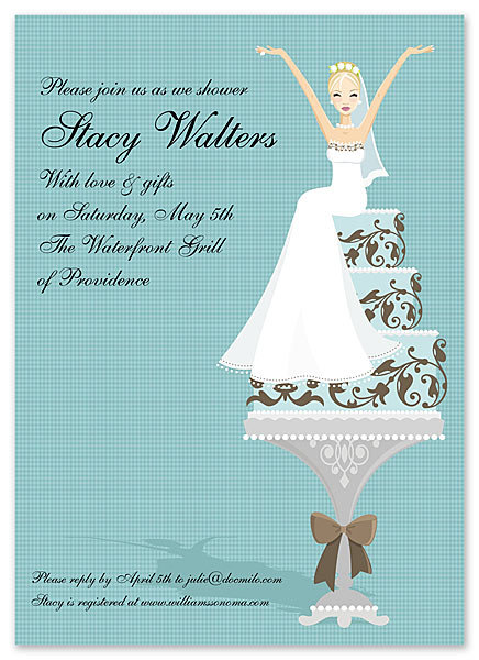 Cake Lady Blonde Bridal Shower and  Event Invitation