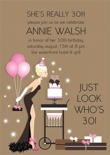 Blonde  Birthday Diva Party and  Event Invitation