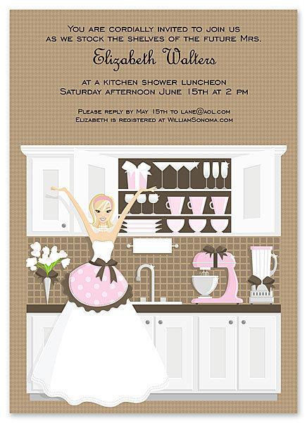 Kitchen Blonde  Bridal Shower Bridal Shower and  Event Invitation