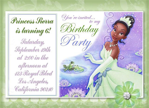 2 princess tiana birthday party invitation 2 princess tiana birthday party keepsake bottle invitation cards filmwisefo