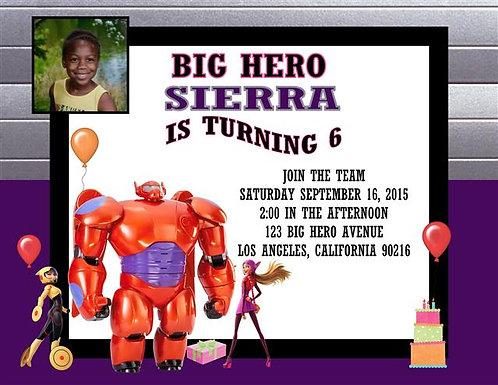 Big Hero 6 Girl Birthday Invitation