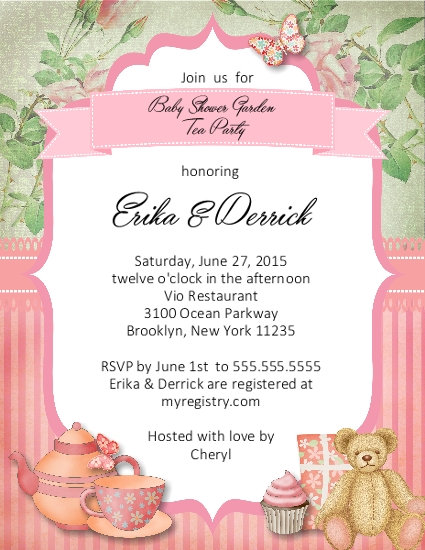 #5 Tea Party Baby Shower Invitation