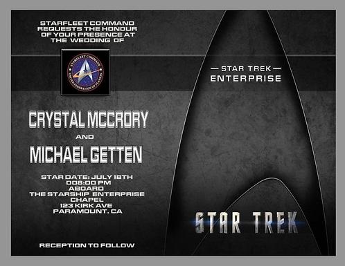 Starfleet Wedding and  Event Invitation (sold