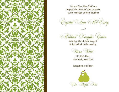 The Perfect Pair Wedding / Event Invitation