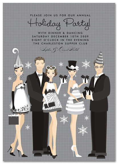 Holiday Group Celebration Party and  Event Invitation