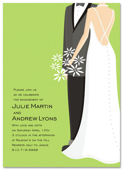 Green Couple Bridal Shower and  Event Invitation