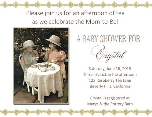 #2 Tea Party Baby Shower Invitations
