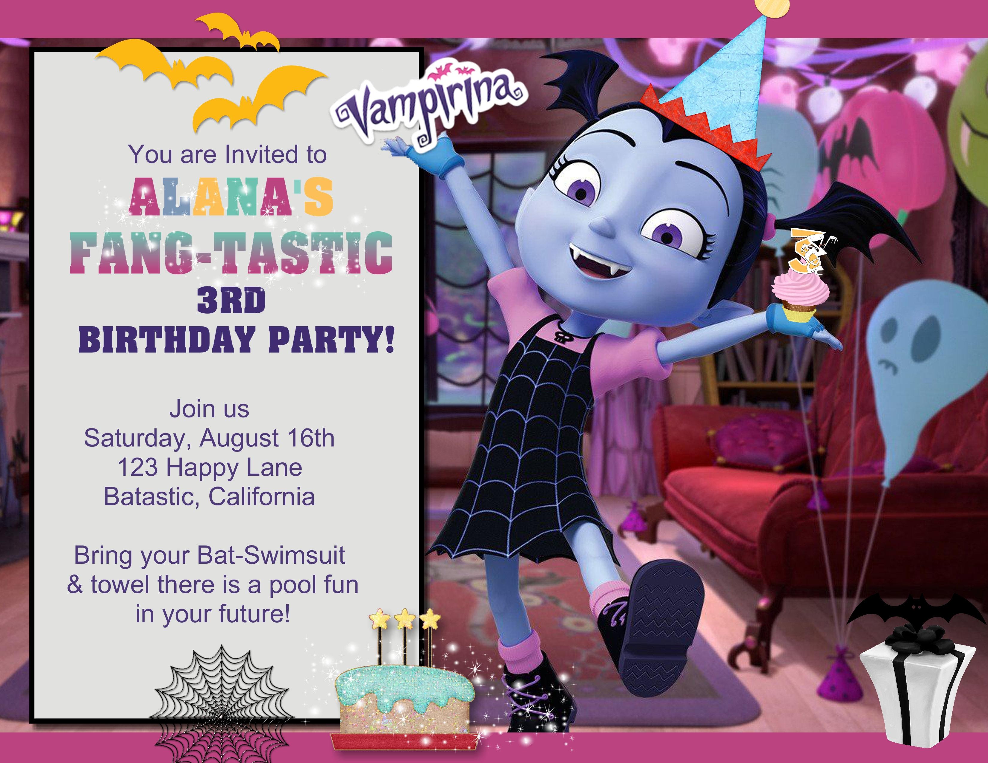 Vampirina Birthday Invitation Sold In Sets Of 10
