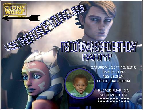 Clone Wars Birthday Party Invitation
